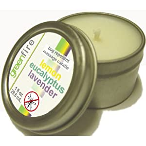 Greenfire Lemon Eucalyptus Lavender Blend All Natural Massage Oil Candle and Insect Repellent (Size: 1 fluid ounce)