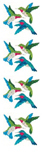Jillson Roberts Prismatic Stickers, Mini Hummingbirds, 12-Sheet Count (S7131)