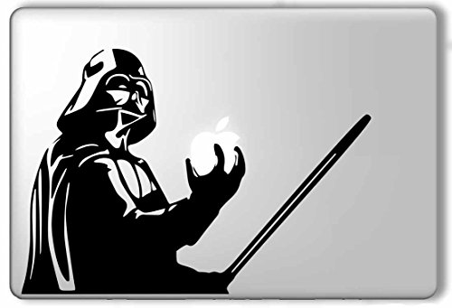 Find Discount Darth Vader Holding Apple and Lightsaber Star Wars - Apple Macbook Laptop Vinyl Sticke...