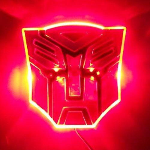 Edge Glowing LED Transformers AUTOBOTS Car Emblem – RED image