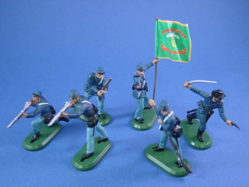 Buy Low Price Battlefield Legends Toy Soldiers Britains Deetail Toy Soldiers American Civil War Union Irish Brigade with Regimental Flag 54mm Collectible Figures (B002QGNI4G)