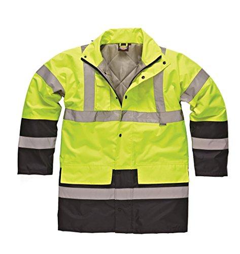 Dickies 2, 2 tonalità di colori, ad alta visibilità, riflettente Parka-Giacca da lavoro impermeabile