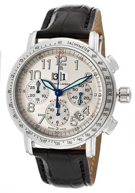 Men's Masterpiece Flyback Automatic Chrono Silver (925) Dial Black Genuine Crocodile