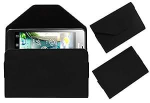 Acm Premium Pouch Case For Lenovo K860 Flip Flap Cover Holder Black