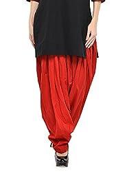 Stylenmart Women Cotton Solid Full Patiala Salwar (Stmapa078633 _Red _Free Size)