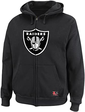 NFL Mens Oakland Raiders Classic Heavyweight III Black Long Sleeve Full Zip Fleece W... by VF LSG