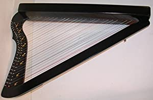 "33"" LAP Harp HARPSICLE Rees Harps SHARPSICLE, Made in USA Black, Book"