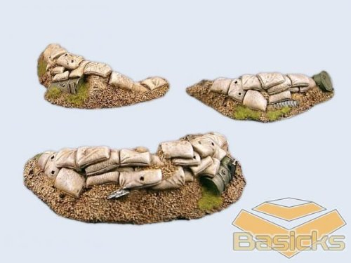 Basicks Terrain - Infantry: Trench Set (3)