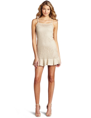 Kensie Women's Textured Twisty Knit Dress, Linen