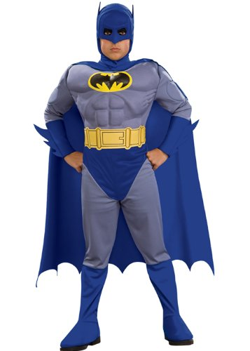 Kids 90s Movie Batman Muscle Superhero Costume Large 8-10 years