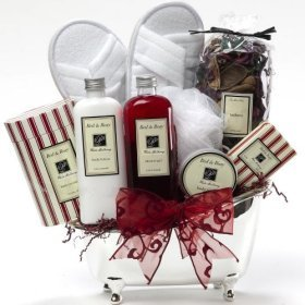 White Mulberry Spa Bath and Body Gift Set - A Great Gift Basket For Her!