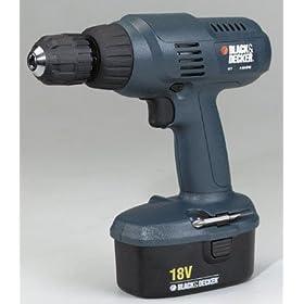 Black & Decker 18 Volt Cordless Drill (PS3750K)