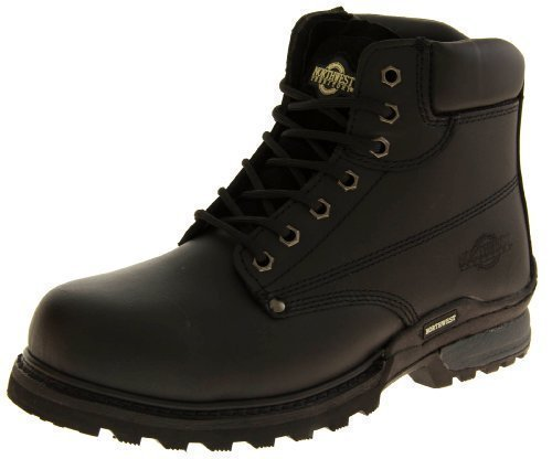mens-leather-northwest-territory-safety-toe-cap-shoes-lace-up-ankle-work-boots-size-9-uk-colour-blac