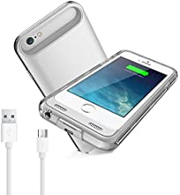 [Apple MFI Certified] iXCC ® 3100mAH External Protective iPhone 6 Extended Charger Case / iPhone 6 Charging Backup Battery Pack Cover Case for Apple iPhone 6 with Lightning Connector Output, MicroUSB Input [100% Compatible with ALL IOS System (including IOS 8 ), Strengthened MicroUSB Input Port for charging and sync, No Signal Reduction][White/Silver]