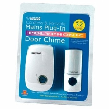 Lloytron- B479 Portable Wireless Mains Plug-In Door Chime