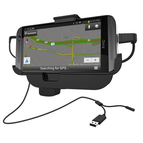 Rnd Vehicle Charging Dock For Htc One M8 (Compatible Without Or With A Slim-Fit Case) (Black)