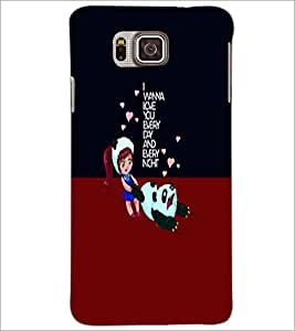 PrintDhaba Quote D-5888 Back Case Cover for SAMSUNG GALAXY ALPHA (Multi-Coloured)