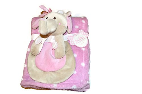 Cuddle Me Baby Blanket by NoJ0-Pink with Elephant