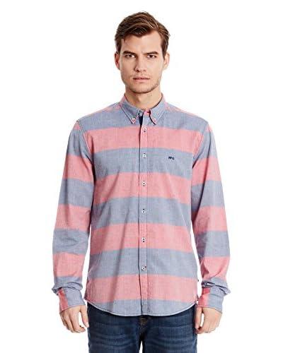 Mc Gregor Camisa Hombre Helton Ivo Azul / Rosa