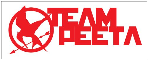 Hunger Games Team Peeta Design 2 Sticker Decal. Red