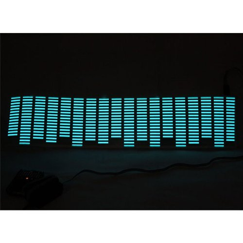 Koolertron 70x16cm Sound music Activated Car Stickers Equalizer Glow Sky-blue Light for cars
