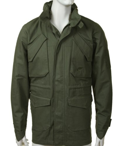 Nike Mens Army Green Coat Size S