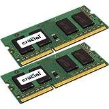 Crucial 8GB Kit (4GBx2) CT2KIT51264BF160B 204-pin SODIMM DDR3 PC3-12800 Memory Module