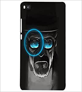PrintDhaba Hat Man D-5082 Back Case Cover for HUAWEI P8 (Multi-Coloured)