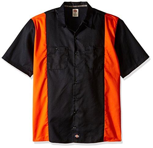 Dickies-WS508 a maniche corte da uomo, bicolore, da lavoro nero/arancione XXX-Large