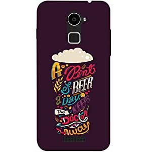 Casotec Pint Of Beer Print Design Hard Back Case cover for Coolpad Note 3 Lite