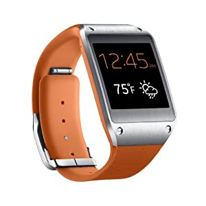 Samsung Galaxy Gear SM-V700 Smartwatch, Ecran AMOLED 1.63 pouces, Android, Appareil photo et vidéo, Bluetooth, Orange (compatible Note 3 et S4 uniquement)