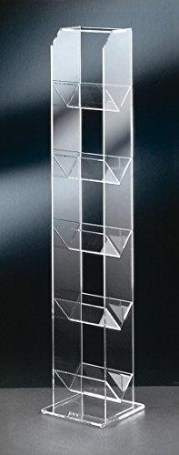 Hochwertiger-Acryl-Glas-CD-DVD-Stnder-CD-DVD-Regal-CD-DVD-Aufbewahrung-klar-20-x-20-cm-H-101-cm-Acryl-Glas-Strke-6-5-4-mm