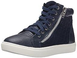 Steve Madden JCAFFINE Hightop Sneaker (Little Kid/Big Kid),Navy,13 M