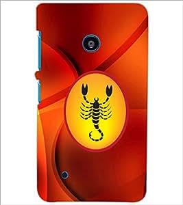 PrintDhaba Zodiac Scorpio D-3377 Back Case Cover for NOKIA LUMIA 530 (Multi-Coloured)