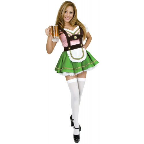 Bavarian Beer Garden Girl Costume - Large - Dress Size 11-13
