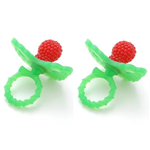 Razbaby Raz-berry TeetB00P6MPTYYher, Red(2 Pack) [Baby Product]