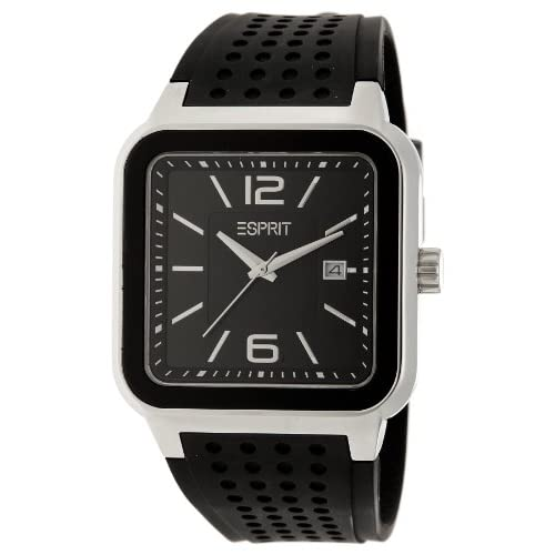 Esprit-Foursides-Mens-Quartz-Watch-with-Black-Dial-Analogue-Display-and-Black-P