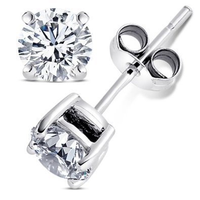 2.00 Carat Cubic Zirconia Earrings. Set in 925