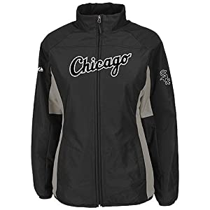 Chicago White Sox Black Ladies Authentic Double Climate On-Field Jacket by Majestic by Majestic