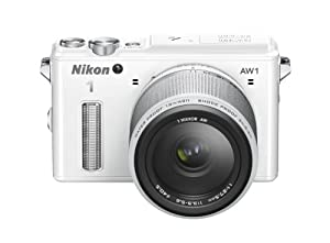 Nikon 1 AW1 Interchangeable Lens Camera with 11-27.5mm Lens Kit - White