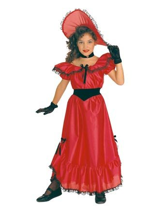 Red Southern Belle Kids Costume