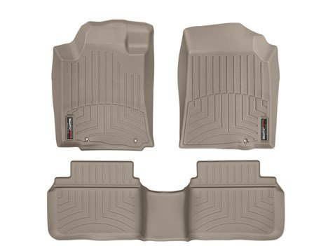 2013-2014 Nissan Altima Sedan Tan Weathertech Floor Liner (Full Set: 1st & 2nd Row) [November 2012 or Later (late production)] 1pair car styling clear front fog lights lamp with bulb for nissan altima sedan 2013 2015