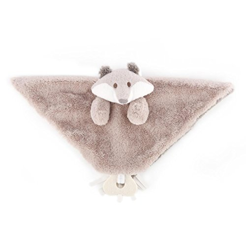 DEMDACO Plush Blankie with Teether, Fadley Fox