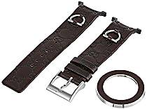 Gucci YFA50012 U-Play Medium Kit Interchangeable Brown Leather Watch Bracelet and Matching Bezel