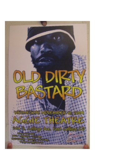 Ol Dirty Bastard Poster Concert Ol' Old Wu-Tang Clan
