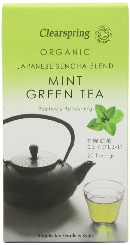 Clearspring Organic Japanese Sencha Blend Mint Green Tea 40 G
