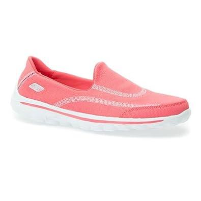 Skechers Skechers GoWalk2 Slip On Shoes 300 326 - Coral Size 9 UK