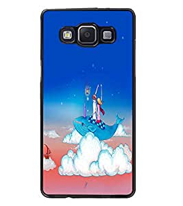 PrintDhaba Funny Image D-4261 Back Case Cover for SAMSUNG GALAXY E5 (Multi-Coloured)