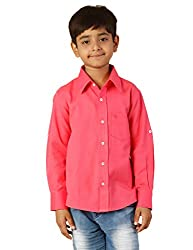 Oxolloxo Boys cotton pink shirt