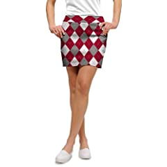 Loudmouth Golf Ladies Skorts: Red, Gray & White - Size 4 by Loudmouth Golf